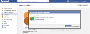 Facebook profiel image aanpassen