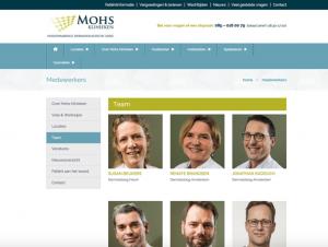website mohs klinieken-medewerkers